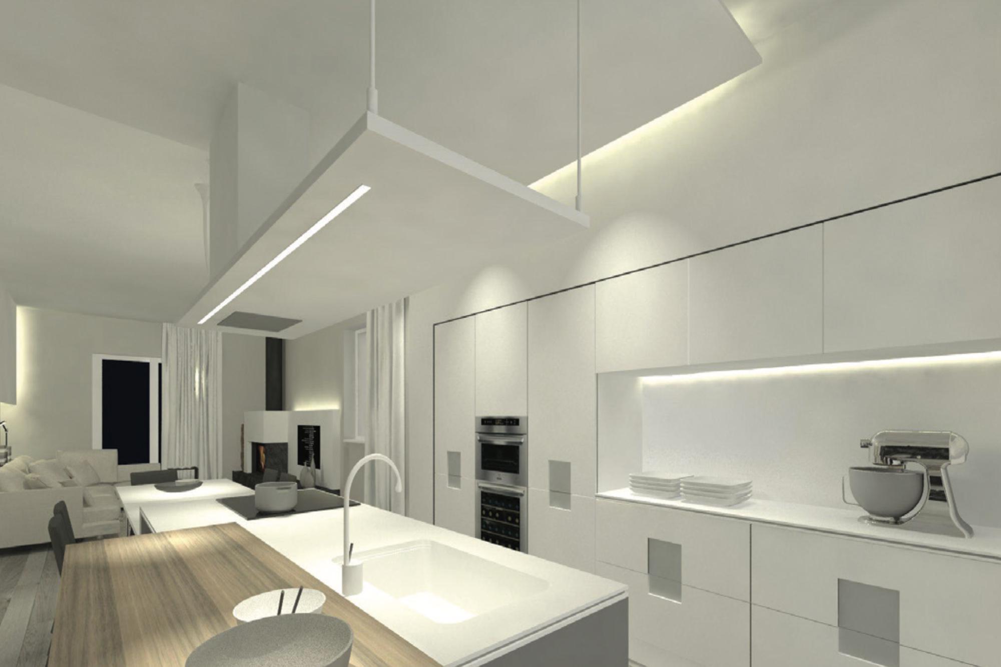 2 meter led profil pu stuckleiste f r indirekte. Black Bedroom Furniture Sets. Home Design Ideas