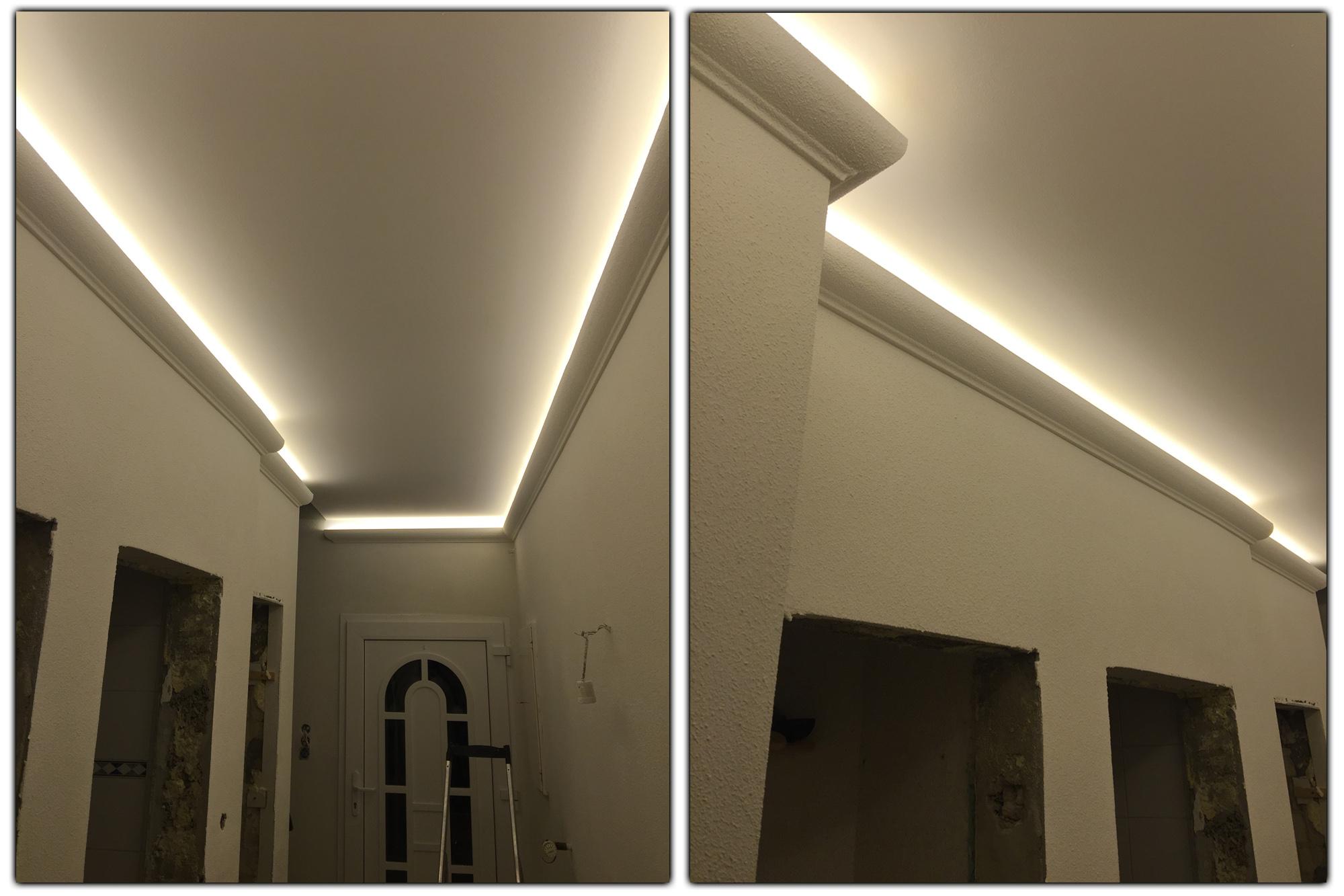 2 meter led profil pu stuckleiste f r indirekte beleuchtung zierleiste dekor sto fest 80x70 ek. Black Bedroom Furniture Sets. Home Design Ideas