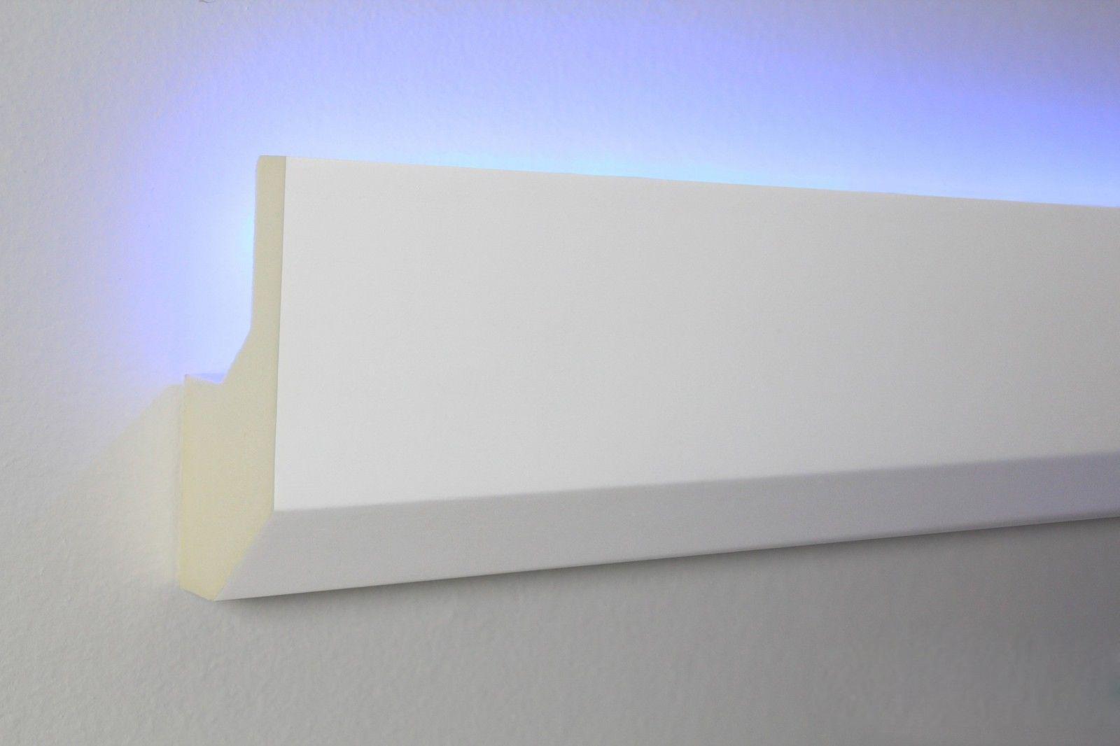 2 meter led profil pu stuckleiste für indirekte beleuchtung, Wohnzimmer dekoo