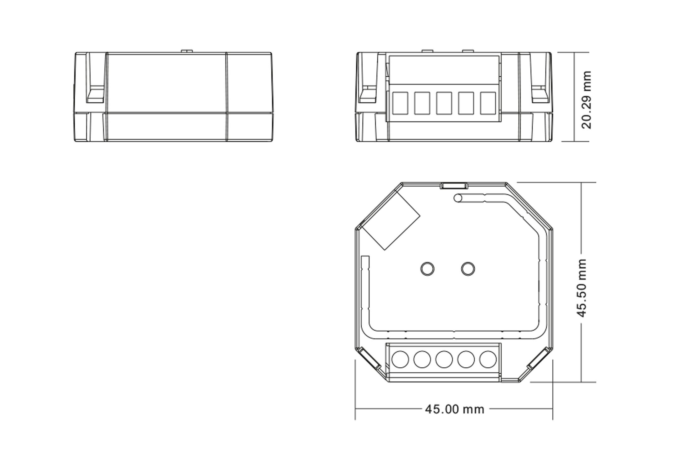 Universal Smart Dimmer für R- L- C-Lasten dimmbare 230V LED-Lampen ...