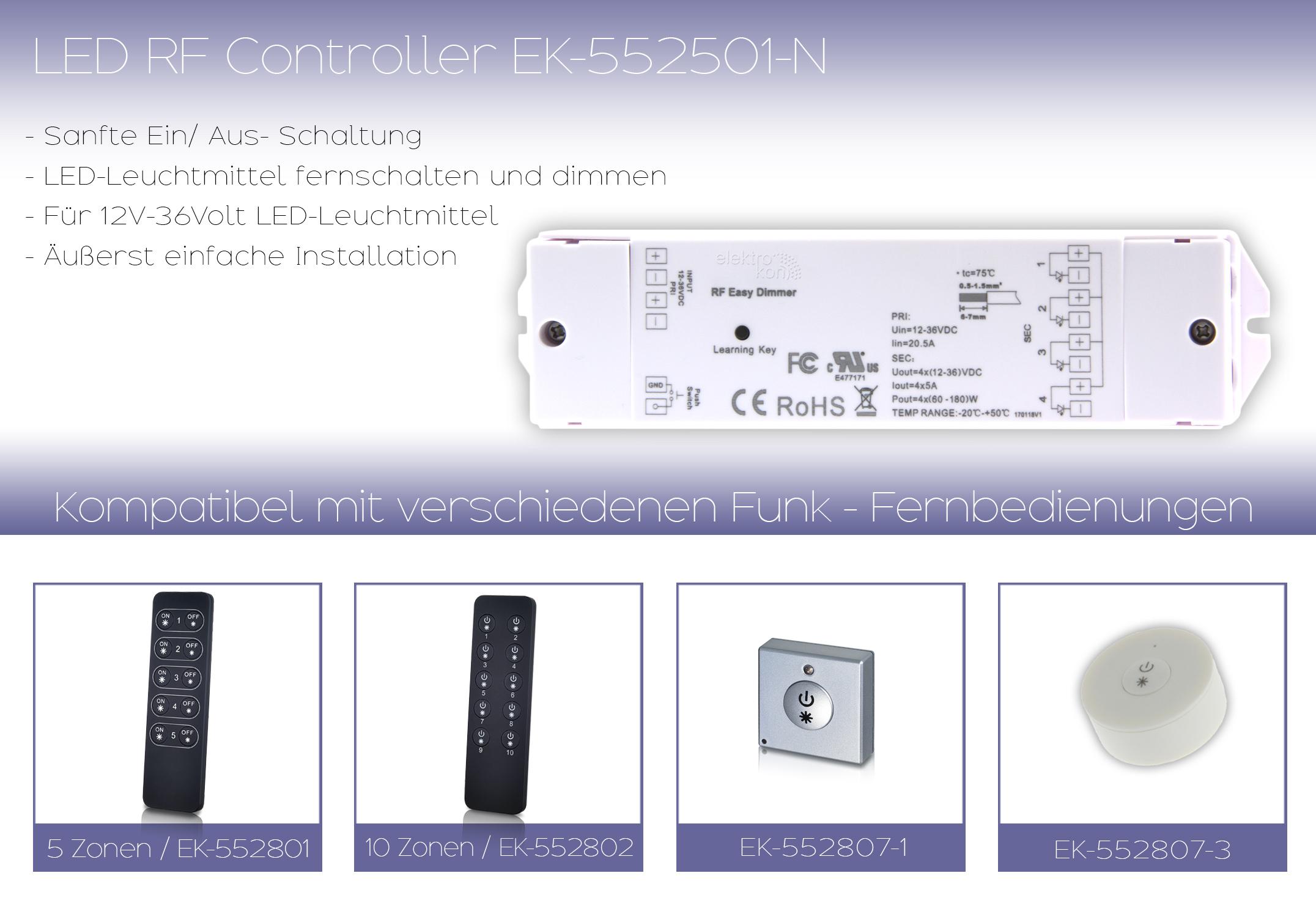 ek-552501N-1 Erstaunlich Dimmer Schalter Mit Fernbedienung Dekorationen