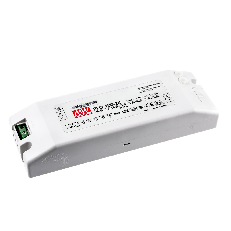 ✅ Mean Well PLC-100-24 Möbel Einbaunetzteil 24Vdc / 4A / 100W ...